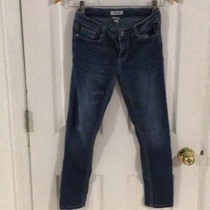 Mudd Girls Sz 12 Blue Denim Jeans adjustable waist